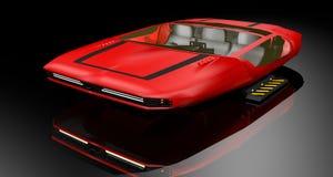 3D che rende veicolo futuristico illustrazione di stock