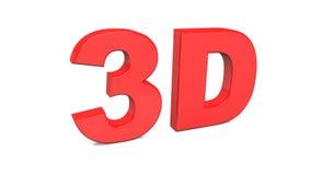 3D che rendono 3D rosso esprimono isolato su fondo bianco Fotografia Stock Libera da Diritti
