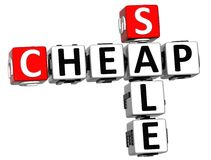3D Cheap Sale Crossword text Stock Photography
