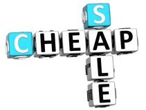 3D Cheap Sale Crossword text Stock Photos