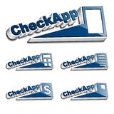 3d check app icon Royalty Free Stock Photo