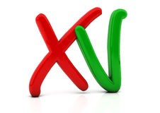 3d Check and cross mark Stock Image