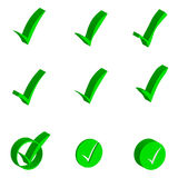 3 D check markt object icons on white background. Vector illustration Stock Photos