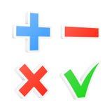 3d checkbox symbolen Vector illustratie Stock Foto's