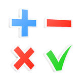 3d checkbox symbols. Vector illustration Stock Photos