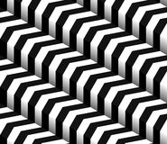3d Checkered Black White Vector Seamless Pattern Stock Photos