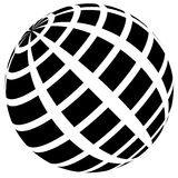 3d checkered sphere on white. Editable . Royalty Free Stock Photos
