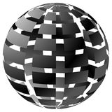 3d checkered sphere on white. Editable vector. Stock Photo
