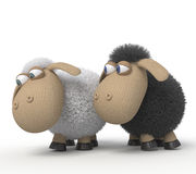 3d cheerful lambs Royalty Free Stock Image
