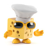 3d Cheese chef Stock Photography