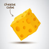 3d cheese cube Royalty Free Stock Image