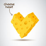 3D cheese heart Stock Photo