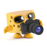 3d Cheese photographer Stock Images