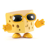 3d Cheese Stock Photography