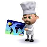 3d Chef accepts credit cards Stock Images