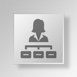 3D chef Button Icon Concept Arkivbild