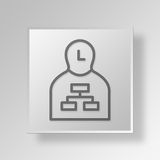 3D chef Button Icon Concept Royaltyfri Bild