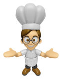 3D Chef Man Mascot has been welcomed with both hands. Work and J Stock Image