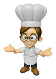 3D Chef Man Mascot has been welcomed with both hands. Work and J Stock Photos