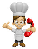 3D Chef Man Mascot just calls me back when you have more time. W Stock Image