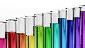 3d - chemie - onderzoek - reageerbuis - chemisch product Royalty-vrije Stock Afbeeldingen