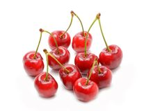 3 d cherry tła white obrazu Obrazy Stock