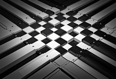 3d chess board. The concept design of futuristic checkerboard. An empty board for chess in modern style Stock Image
