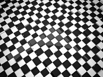 3d chess board. The concept design of futuristic checkerboard. An empty board for chess in modern style Royalty Free Stock Photography