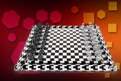 3D Chess Board illustration Stock Image