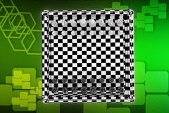 3D Chess Board illustration Royalty Free Stock Photography