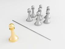 3d chess figur Stock Image