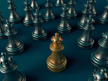 3d chess figur Stock Images