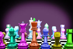 3d chess Royalty Free Stock Photography