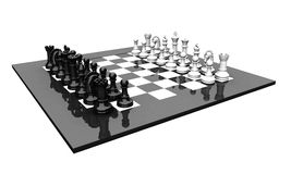 3D chess set Stock Images