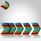 3d Chevron Bar Chart Stock Image
