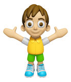 3D Child Mascot is fighting gestures. Work and Job Character Des Royalty Free Stock Images