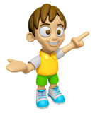 3D Child Mascot has been welcomed with both hands. Work and Job Royalty Free Stock Image