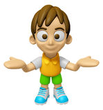3D Child Mascot has been welcomed with both hands. Work and Job Stock Photos