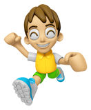 3D Child Mascot on Running. Work and Job Character Design Series Stock Photos