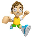 3D Child Mascot on Running. Work and Job Character Design Series Royalty Free Stock Photos