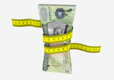 3D Chinese with Measure tape Royalty Free Stock Photos
