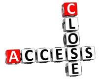 3D chiudono le parole incrociate di Access Immagini Stock Libere da Diritti