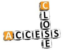 3D chiudono le parole incrociate di Access Immagini Stock