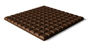 3d chocolate bar. 3dchocolate bar illustration.100 block of cholate Stock Photography