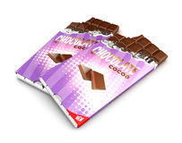 3d chocolate bars Royalty Free Stock Photo