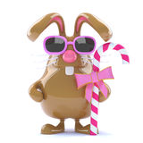 3d Chocolate Easter Bunny with candy Royalty Free Stock Image
