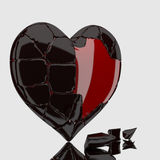 3d chocolate heart. Royalty Free Stock Photo