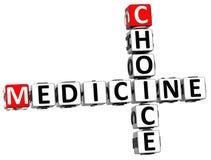 3D Choice Medicine Crossword Royalty Free Stock Photography