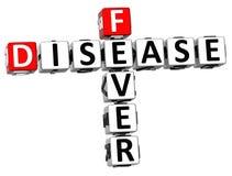 3D choroby Crossword Gorączkowy tekst Obraz Stock