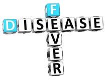 3D choroby Crossword Gorączkowy tekst Zdjęcie Royalty Free